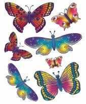 Raamdecoratie sticker vlinders