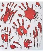 Raamstickers horror handen met bloed