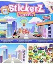 Raamstickers kinderkamer voertuigen thema