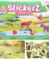 Raamstickers kinderkamer wilde dieren thema