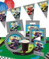 Race kinderfeestje feestartikelen pakket voor 8 personen
