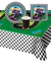 Race kinderfeestje tafel feestartikelen pakket voor 8 personen