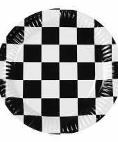 Race thema bordjes 6 stuks