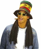 Rasta hoge hoed met dreads