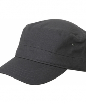 Rebel militairy cap antraciet