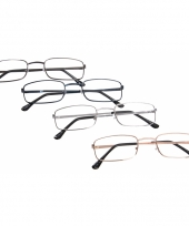 Rechthoekige leesbril 2 50