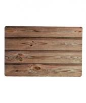 Rechthoekige placemat hout design 43 5cm x 28 5cm x 0 3cm