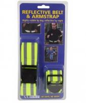 Reflecterende veiligheid set riem en armband