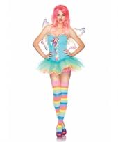 Regenboog fee kleding voor dames