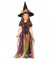 Regenboog heksen outfit voor kinderen