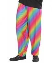 Regenboogprint broek voor heren
