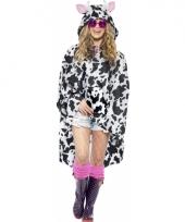 Regenponcho met koeienvlekken