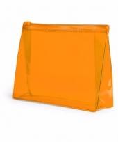 Reis toilettasje oranje 17 cm