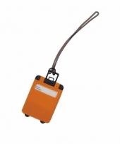 Reiskoffer label oranje 9 5 cm