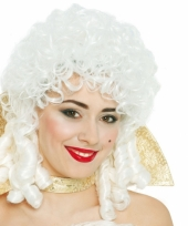 Renaissance vrouwen pruik wit