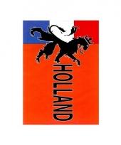 Retro holland vlag met leeuw 90 x 150 cm
