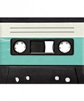 Retro muurplaat casette 20 x 30 cm