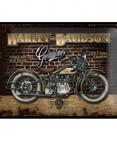 Retro muurplaatje harley davidson 30 x 40 cm