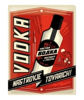 Retro muurplaatje vodka 30 x 40 cm