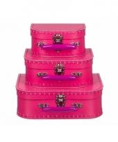 Retro poppenkoffertje roze 16 cm 10085941