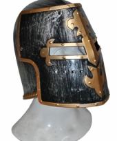 Ridder helmen zwart met goud