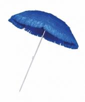 Rieten hawaii parasols blauw