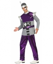 Robot outfit paars voor mannen