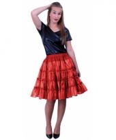 Rode 5 laags petticoat voor dames