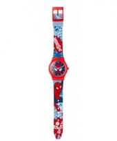 Rode analoge spiderman horloges voor jongens meisjes