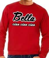 Rode bella ciao sweater voor heren