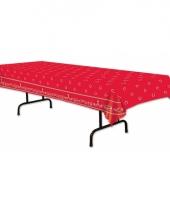 Rode boeren zakdoek tafelkleed 275 x 135 cm