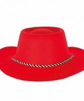 Rode cowboyhoed voor dames en heren