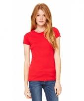 Rode dames t-shirtjes hanna ronde hals