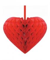 Rode decoratie harten papier 15 cm