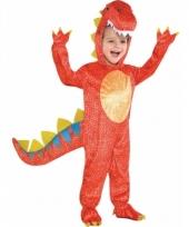 Rode dinosaurus outfit voor kinderen