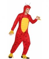 Rode draak verkleedkleding voor heren