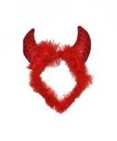 Rode duivel haarband voor dames