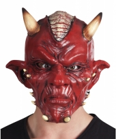 Rode duivel masker lucifer voor volwassenen