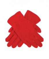 Rode fleece handschoenen voor kinderen