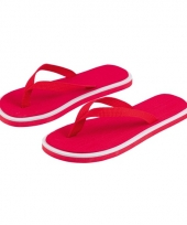 Rode flip flop slippers voor heren