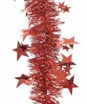 Rode folie slinger met sterren