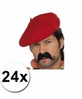Rode franse baretten 24 st
