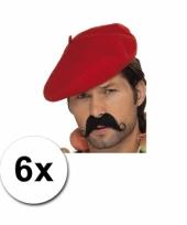 Rode franse baretten 6 st