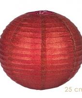Rode glitter lampionnen 25 cm