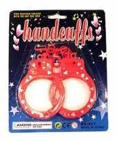 Rode handboeien met hartjes