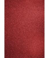 Rode hobbykarton met glitters