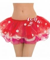 Rode kerst tutu voor vrouwen