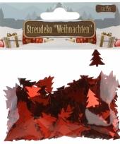 Rode kerstboompjes confetti 15 gram