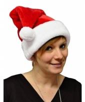 Rode kerstmuts de luxe 10077648