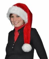 Rode kerstmuts de luxe 75 cm
